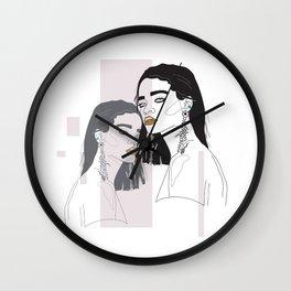 Rihanna twins Wall Clock