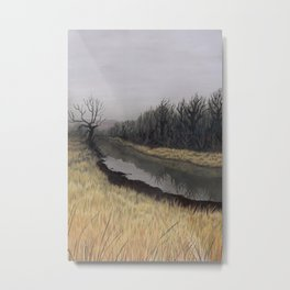 Just Before the Bridge, Just After Autumn Metal Print