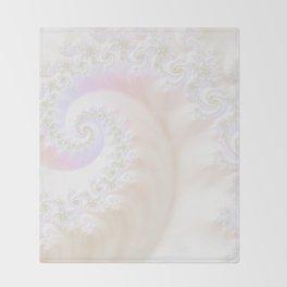 Ocean Treasure -- Mother of Pearls Mandelbrot Throw Blanket