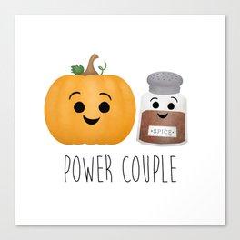 Pumpkin + Spice = Power Couple Canvas Print