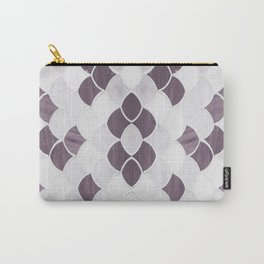 Moroccan Scalloped Flower Plum Carry-All Pouch