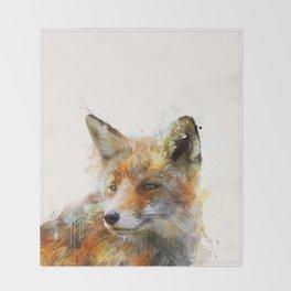 The cunning Fox Throw Blanket