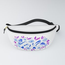 Love and flowers - blue and purple Fanny Pack