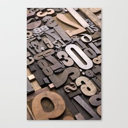 Numbers - Typography Photography™ Canvas Print