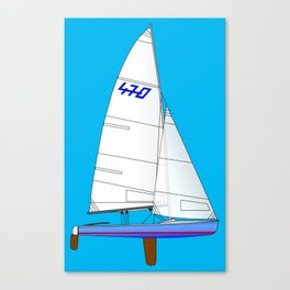 470 Olympic Sailboat Canvas Print