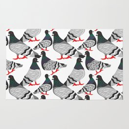 Pigeon Power Rug