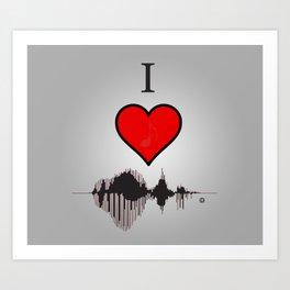 I Heart Music Art Print