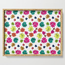 Blotted Flowers collection Serving Tray