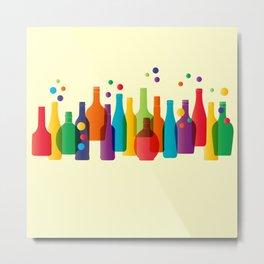 Colored bottles Metal Print