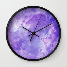 Violet galaxy Wall Clock
