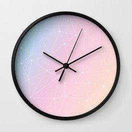 Rainbow Watercolor Astronomy Wall Clock