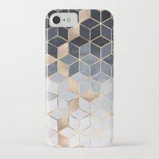 Soft Blue Gradient Cubes iPhone 7 Slim Case