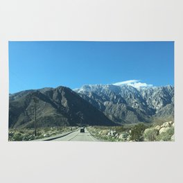 Mountain Snow in Palm Springs California Rug