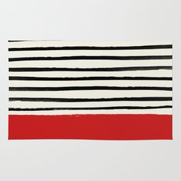 Red Chili x Stripes Rug