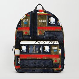 Retro classic vintage gold mix cassette tape Backpack