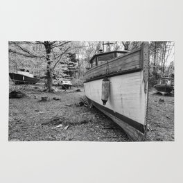 Abandoned Fishing Boats Rug