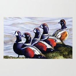 Harlequinn Ducks of LBI Rug