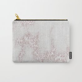 Marble Pattern Silver Rosé Carry-All Pouch