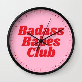 Badass Babes Club Wall Clock