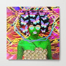 Summer and butterflies Metal Print