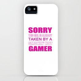 Taken By Gamer iPhone Case