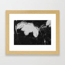 Snowy brush strokes Framed Art Print