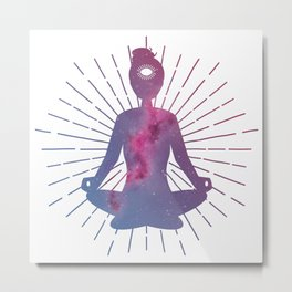 Open Your Third Eye To The Universe Metal Print