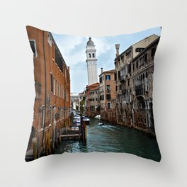 Leaning Venice Throw Pillow