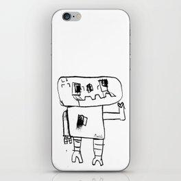 Robot Wave ByeBye iPhone Skin