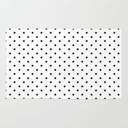 Minimal - Small black polka dots on white - Mix & Match with Simplicty of life Rug