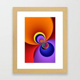 time for fractals -5- curtain Framed Art Print