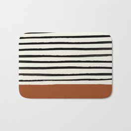 Burnt Orange x Stripes Bath Mat