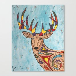The Colorful Deer Canvas Print