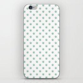 Cadmium Green on White Snowflakes iPhone Skin