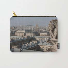 Gargoyle staring at Paris Carry-All Pouch