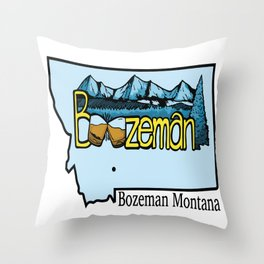 Boozeman Throw Pillow