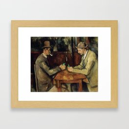 The card players Framed Art Print