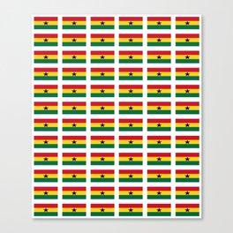 Flag of Ghana -Ghanaian,accra,kumasi,Akans,Dagbani,Tamale,Gold coast,Ashanti Canvas Print