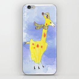 Yellow Giraffe  iPhone Skin