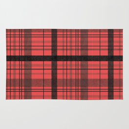 Black & Red Plaid Rug