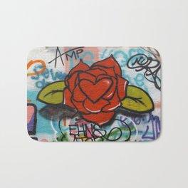 rose/heart graffitti Bath Mat