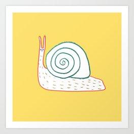 Cutest Snail Art Print