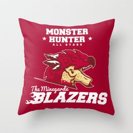 Monster Hunter All Stars - The Minegarde Blazers Throw Pillow
