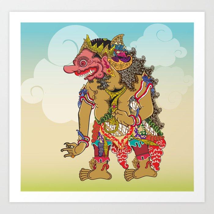 Kumbakarna character in Ramayana story Art Print by jatmikajati