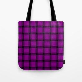 Large Purple Violet Weave Tote Bag