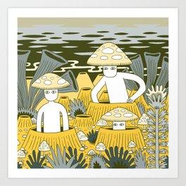 Mushroom Men Art Print