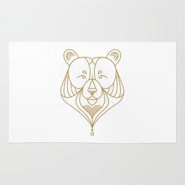 Gold Bear One Rug