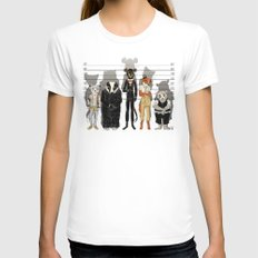 Unusual Suspects Womens Fitted Tee White MEDIUM