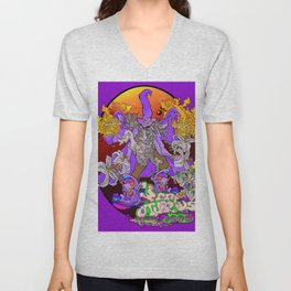 Other Worlds: Wizzin' all Over the Flora Unisex V-Neck