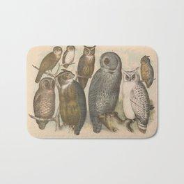 Naturalist Owls Bath Mat
